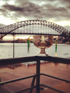 Check out the Sam Maguire Cup at the Sydney Harbour Bridge
