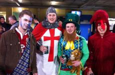 Lions fans unite: Braveheart, dragon, knight and... a leprechaun