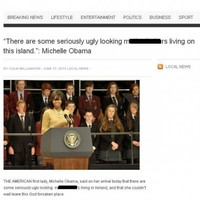 """Does Michelle Obama think Irish people are """"ugly m*****f*****s""""?"""