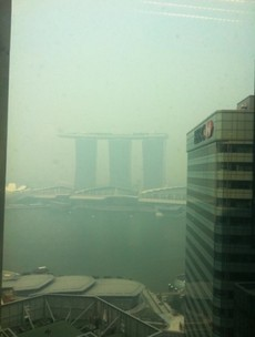 Not much of a view: Singapore's haze hits crisis levels