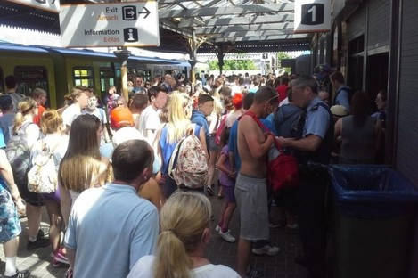The DART station at Sutton was temporarily closed after hundreds of young people showed up to attend a rave on a beach.