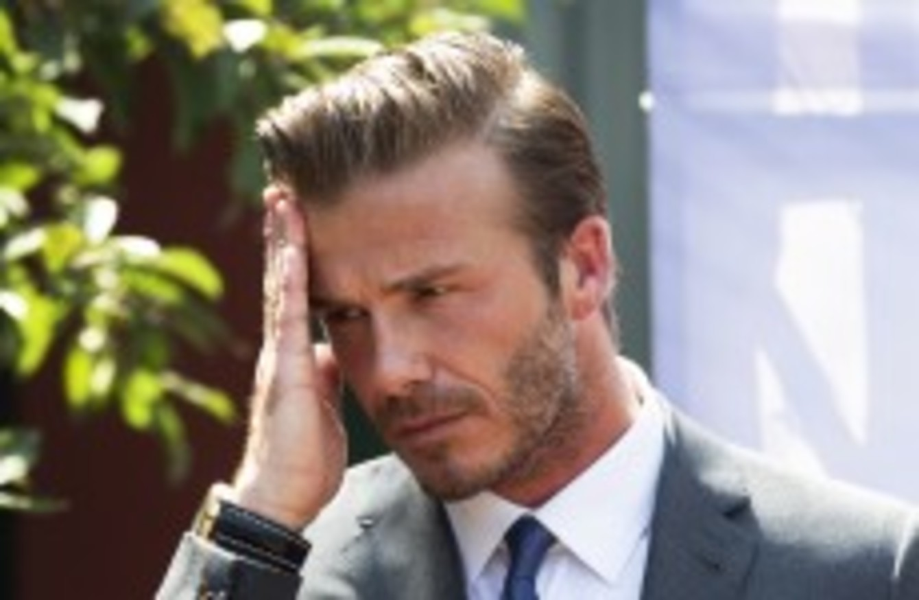 Stampede At Beckham Event Injures Seven In China The42