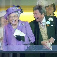 Look how happy the Queen was when her horse won today