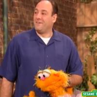 James Gandolfini talks about feeling scared on Sesame Street