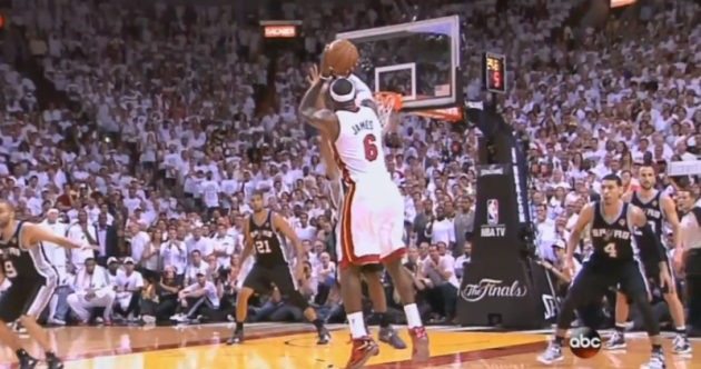 Here's the LeBron James dagger with 30 seconds left that won Game 7 for the Heat