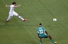 Forlan marks 100th cap with stunning winner against Nigeria