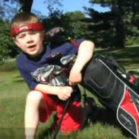 You do not like anything as much as this child likes golf