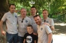 Irish supporters group donates to Ukraine orphanage during Eurofan trip
