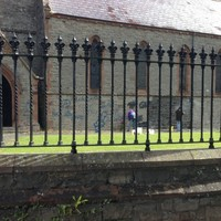Anti-religious graffiti removed from a Celbridge church hours before funeral