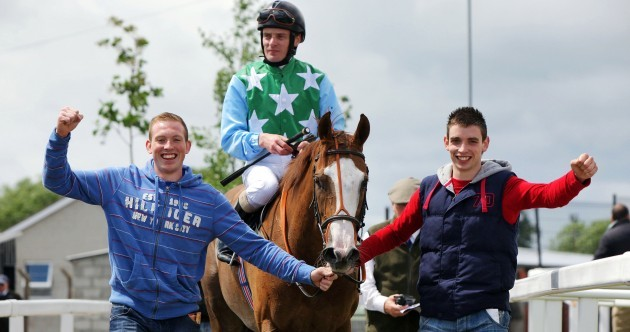 Limerick senior hurlers celebrate as part of winning horse racing syndicate