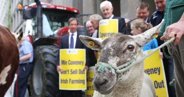 PHOTOS: Farmers mount Kildare St protest over CAP reforms