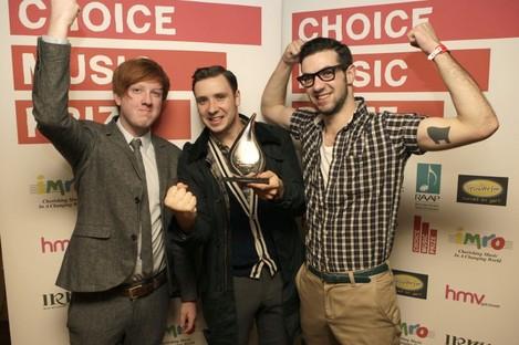 Two Door Cinema Club celebrate winning the Choice Music Prize