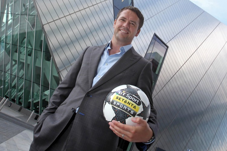 Owen at yesterday's Setanta Sports / BT Sport announcement in Dublin.