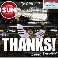Toronto Sun has a good ol' gloat about Boston losing Stanley Cup