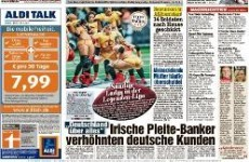 The Anglo Tapes scandal has made the front page of this German tabloid