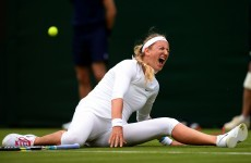 VIDEO: 2nd seed Azarenka out of Wimbledon after splits go horribly wrong