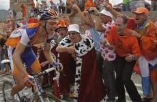 Cycling fans organise 'Irish Corner' on iconic Tour de France climb