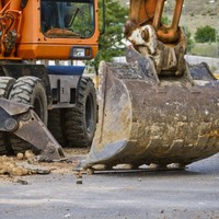 Five diggers set on fire in Down arson attack