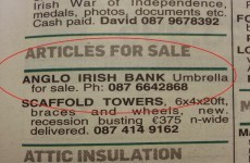 How much would you pay for an Anglo Irish Bank umbrella?