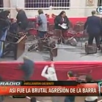 Independiente fans react to relegation by lobbing chairs at club president