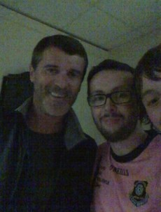Roy Keane took in a League of Ireland game tonight