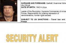 Interpol issues alert for Gaddafi and 15 family members
