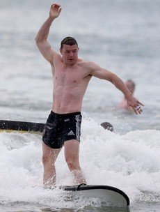 Surf's up for BOD and the Lions on their day off