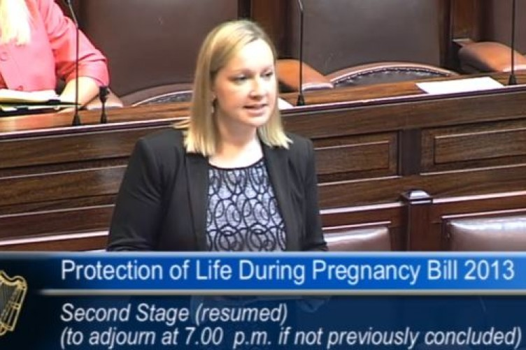 Lucinda Creighton speaking in the Dáil
