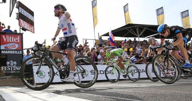 Sprint finish: Cavendish explodes into life on Tour