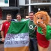 The 'collect my dole' flag from Euro 2012 resurfaces on the Lions Tour