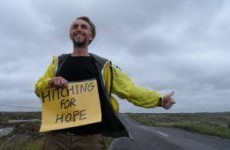 Meet the man hitchhiking around Ireland to listen to people's stories