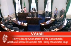 VIDEO: Confusion reigns as senators vote on bill to abolish Seanad