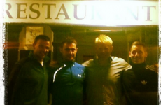 Snapshot: Peter Schmeichel met some of the Cork footballers in Kinsale last night