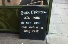 'We ain't Lion' -- one Dublin restaurant is still on the BOD bandwagon