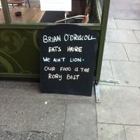 'We ain't Lion' -- one Dublin restaurant is still on the BOD bandwagon