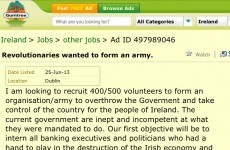 'Intern bank execs and politicians' - revolution in the small ads?