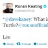 Tweet Sweeper: Which ninja turtle is Ronan Keating's favourite?