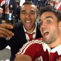 Champagne, James Bond and 'Las Vegas baby'! Victorious Lions party in style