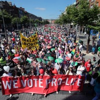 Thousands take to Dublin streets over proposed abortion legislation