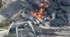 80 missing as train carrying oil derails and explodes in small Canadian town