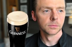 Update: Irish people ask Simon Pegg for a pint on Twitter... and he responds