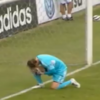 Watch as goalkeeper Penny drops clanger