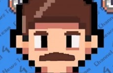Anchorman retold as an 8-bit arcade game