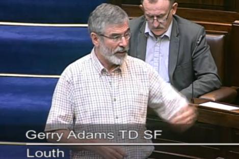 Gerry Adams in the Dáil today