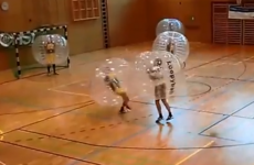 Bubble football looks like the worst possible thing to do in 30 degree heat