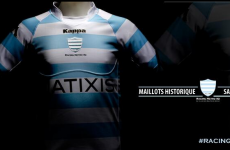 This is the Racing Metro jersey Jonny Sexton will be sporting next season