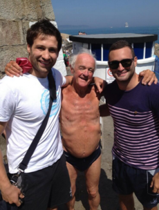 Leinster rugby stars were hanging out with Father Jack at the 40ft today