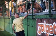 Brian McDermott gave Leeds fans €50 for a round of drinks in Slovenia tonight
