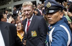 David Moyes gets first taste of the United mayhem as squad mobbed in Bangkok