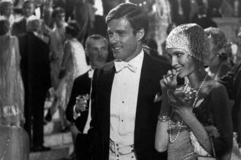 Robert Redford was Jay Gatsby, and Mia Farrow, right, Daisy, in the 1974 film, The Great Gatsby, based on F Scott Fitzgerald's novel